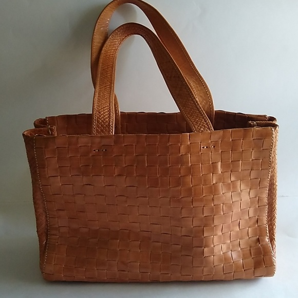 euroWellness Handbags - euroWellness leather woven bag